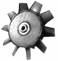 Axial fan blade impeller