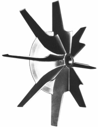 Replacement fan blower ventilator impeller