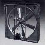 Greenhouse wall fan exhauster ventilator